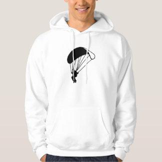Skydiving parachutist hoodie