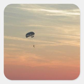Skydiving Pegatina Cuadrada