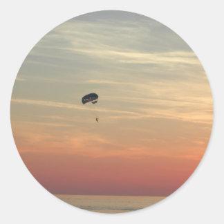 Skydiving Pegatina Redonda