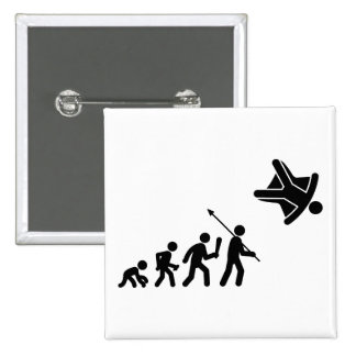 Skydiving Pin Cuadrada 5 Cm