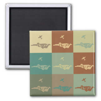 Skydiving Pop Art 2 Inch Square Magnet