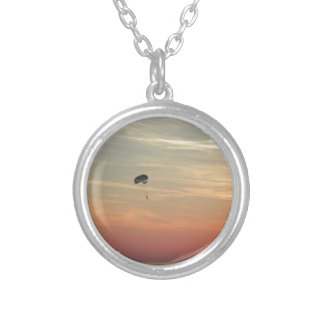 Skydiving Silver Plated Necklace