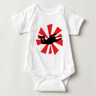 skydiving skydiver icon baby bodysuit