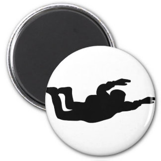 skydiving skydiver icon refrigerator magnets