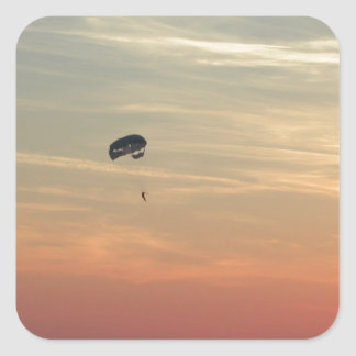 Skydiving Square Sticker
