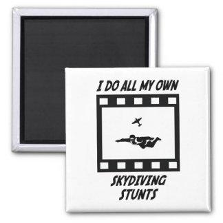 Skydiving Stunts Fridge Magnet