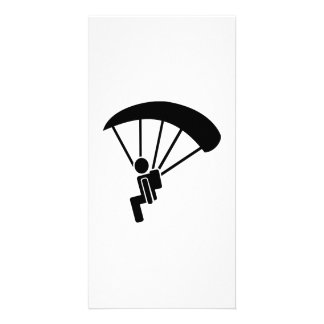 Skydiving symbol picture card