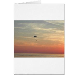 Skydiving Tarjeta De Felicitación