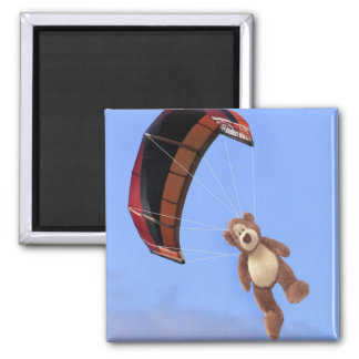 Skydiving Teddy Bear Magnet