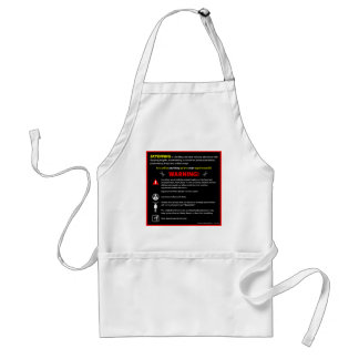 SKYDIVING Theme Park Warning Sign Adult Apron