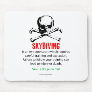 Skydiving Training Mouse Pad