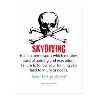 Skydiving Training Postcard