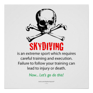 Skydiving Training Poster