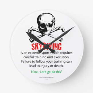 Skydiving Training Round Clock