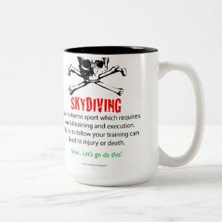 Skydiving Training Two-Tone Coffee Mug