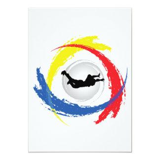 Skydiving Tricolor Emblem Card