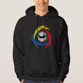 Skydiving Tricolor Emblem Hoodie