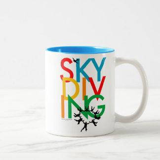 Skydiving Two-Tone Coffee Mug