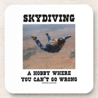 Skydiving una afición donde usted no puede salir posavasos