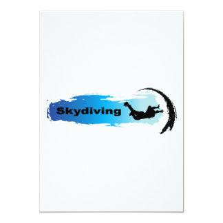 """Skydiving único invitación 5"""" x 7"""""""
