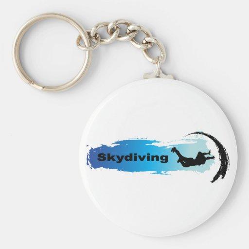 Skydiving único llavero