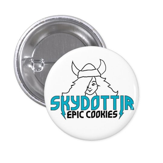 Skydottir Epic Cookies GIRL LOGO Button