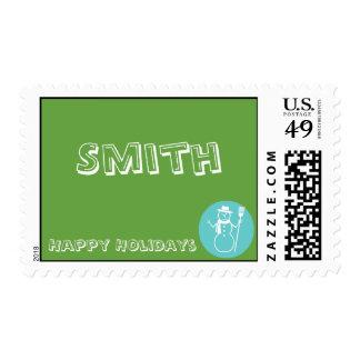 Skye - Green & Blue - Matching Postage Stamp