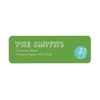 Skye - Green & Blue - Return Address Labels