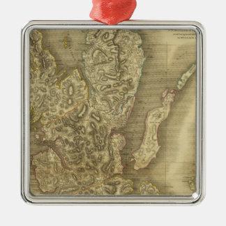 Skye Island Square Metal Christmas Ornament