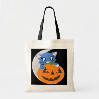 Skye Pumpkin Toon Kitty Moon Bag