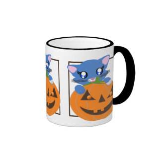 Skye Pumpkin Toon Kitty Mug