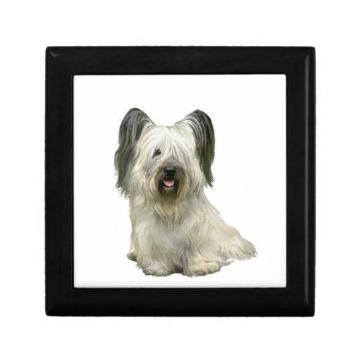 Skye Terrier (a) - luz Joyero Cuadrado Pequeño