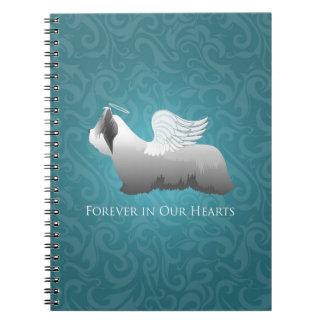 Skye Terrier Angel Design Notebook