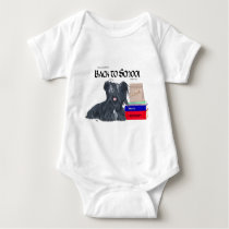 Skye Terrier Back to School Baby Bodysuit