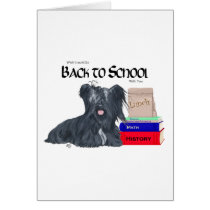 Skye Terrier Back to School Card