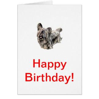 Skye Terrier Card
