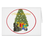 Skye Terrier en el árbol de navidad Felicitacion