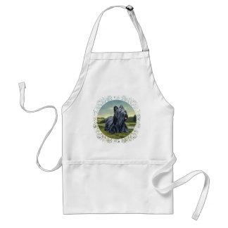 Skye Terrier en paisaje pastoral Delantal