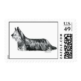 Skye Terrier Estampilla