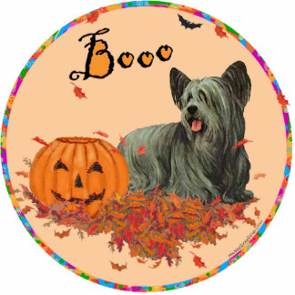 Skye Terrier Halloween Cutout