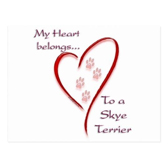 Skye Terrier Heart Belongs Postcard