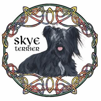 Skye Terrier in Celtic Knotwork - Buchanan Tartan Cutout