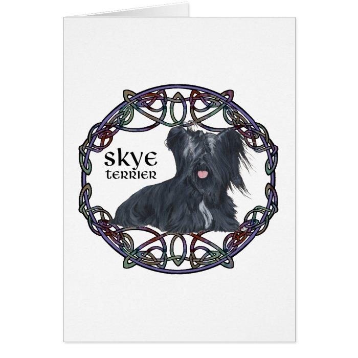 Skye Terrier in Celtic Knotwork Card
