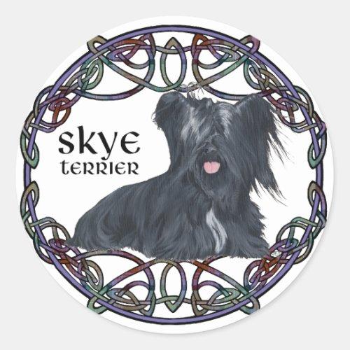 Skye Terrier in Celtic Knotwork