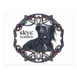 Skye Terrier in Celtic Knotwork Postcard