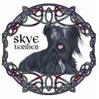 Skye Terrier in Celtic Knotwork Statuette