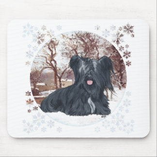 Skye Terrier in Wintertime Mouse Pad