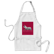 Skye Terrier Merry Christmas Design Adult Apron
