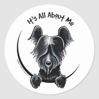 Skye Terrier negro IAAM Etiquetas Redondas