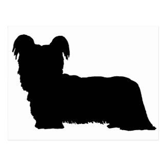 Skye Terrier (negro) Postal
